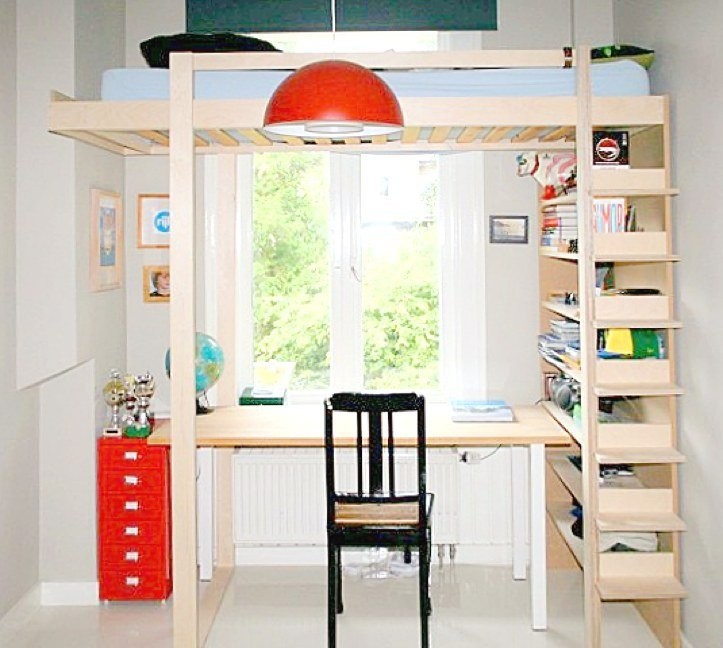 Bouwtekening hoogslaper design hoogslaper zelf maken - Stapelbed kleine kamer ...