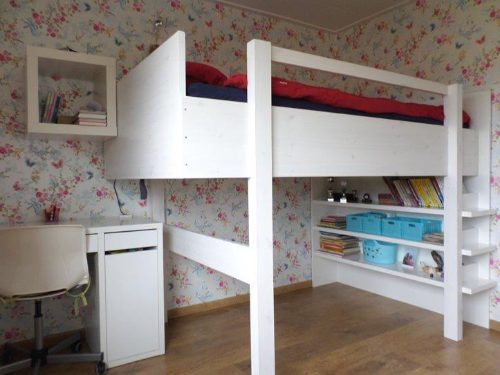 Twee persoons hoogslaper zelf maken werktekening met handleiding - Slaapkamer van een meisje ...