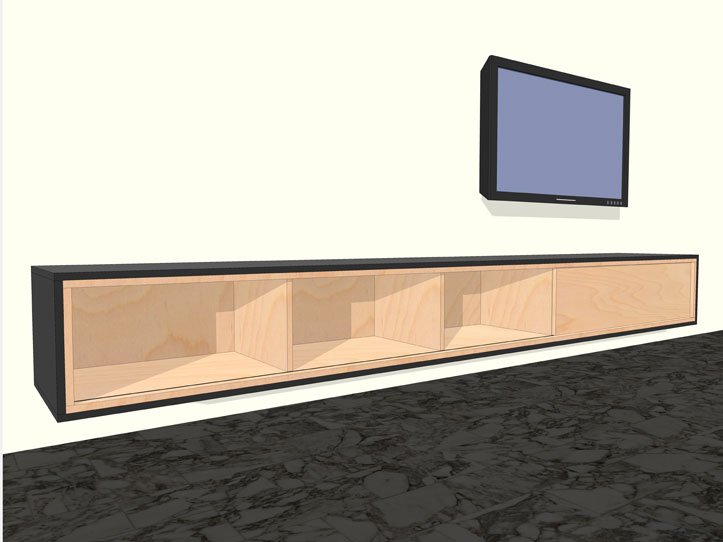 Zelf Keuken Bouwen Maken : Plans for Wall Hanging TV Cabinet