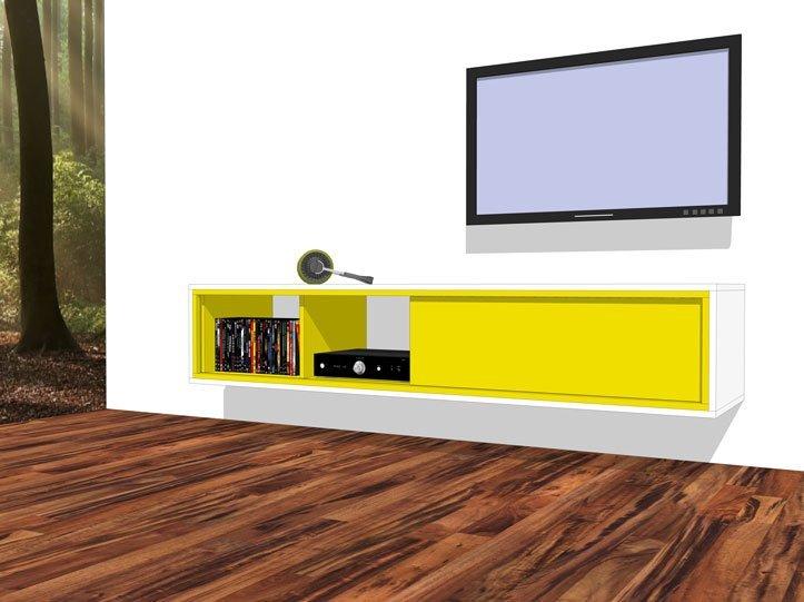 Zelfgemaakte Tv Meubels: Onze tv muur met landelijke meubel foto ...
