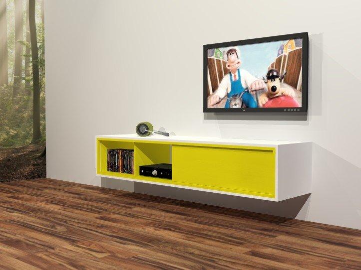 Zelf hangend TV-meubel maken: Penelope Werktekening zwevend TV-meubel ...