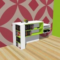 Zelfbouw TV meubel met lift Javier