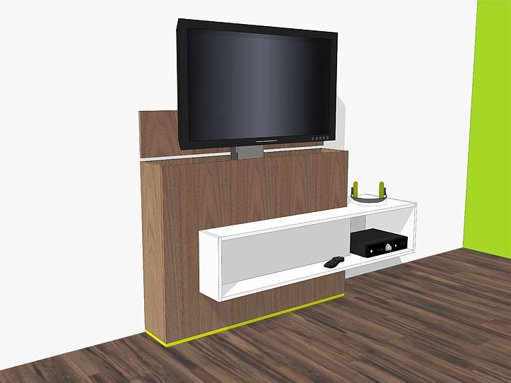 tv meubel met lift zelf maken in hout of mdf. Black Bedroom Furniture Sets. Home Design Ideas