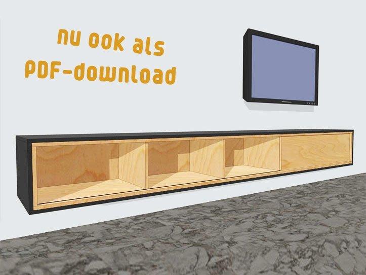 bouwtekening hangend tv meubel arturo XL nu ook als pdf download te ...