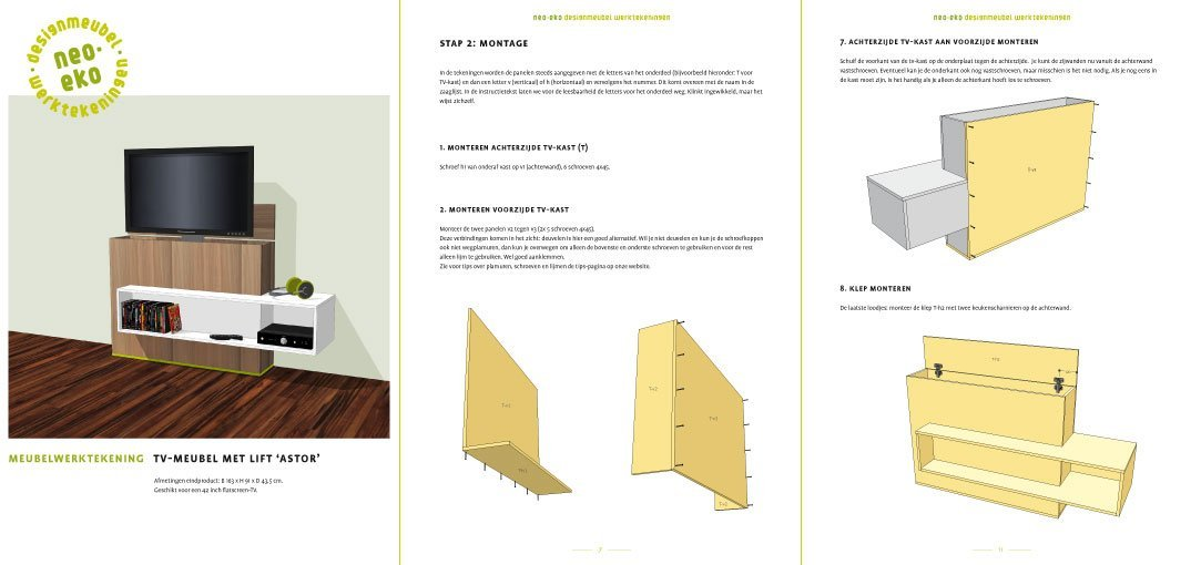 Zelf Keuken Bouwen Maken : preview van de werktekening van zelfbouw tv kast met lift astor