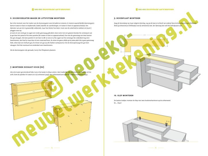Zelf Keuken Bouwen Maken : Zelf Keuken Bouwen Mdf : Meubelwerktekening van TV meubel met lift
