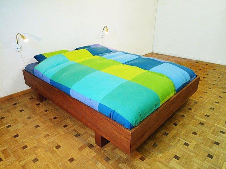 Bouwtekening bed tweepersoonsbed zelf maken - Ontwerp hoofdbord ...