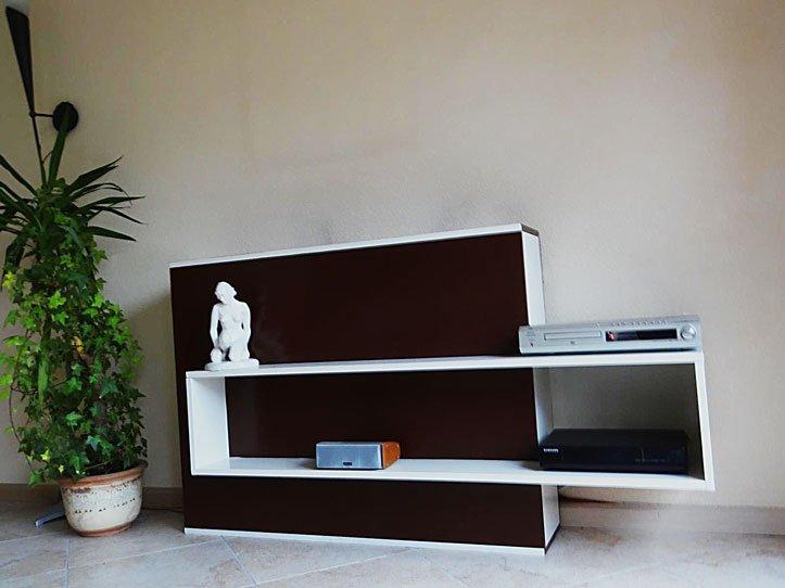 Tv meubel met lift Astor gemaakt door Hans.