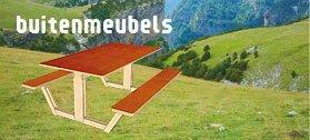 loungebank picknicktafel lounge set tuinbank buitentafel zelf maken bouwen tekening handleiding bouwplan