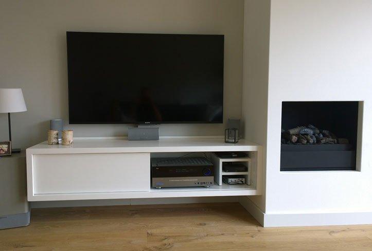 Wand Maken Voor Tv : Werktekening TV-meubel, hangend, zelf maken in ...