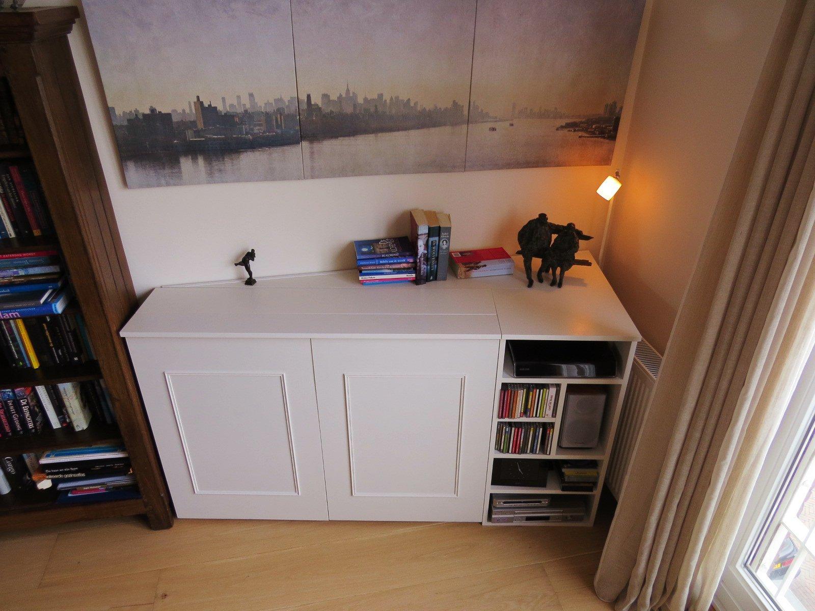 Tv meubel met lift, zelf maken in hout of mdf