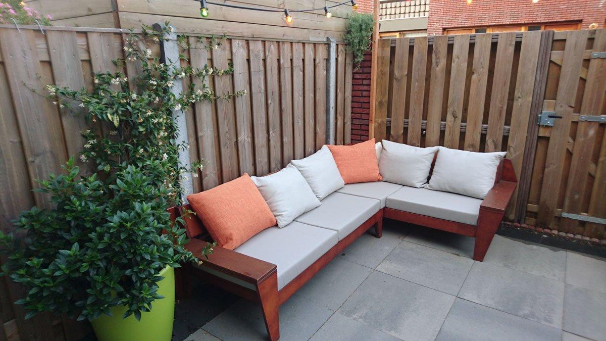 Zelf Lounge hoekbank maken, bouwtekening loungeset