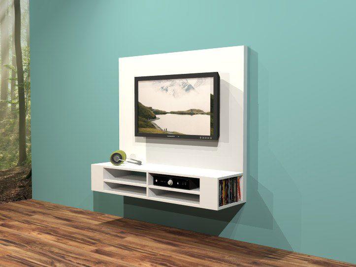 Platte Tv Kast.Tv Meubel Maken Tekening Hangende Tv Kast
