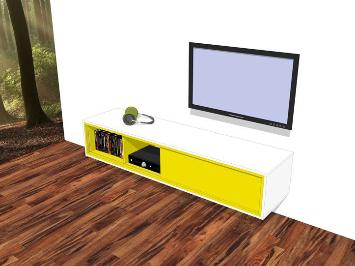 zelfbouw tv meubel Arturo