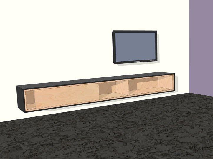 Tv meubel hout staal markus john liverpool tv meubel staal