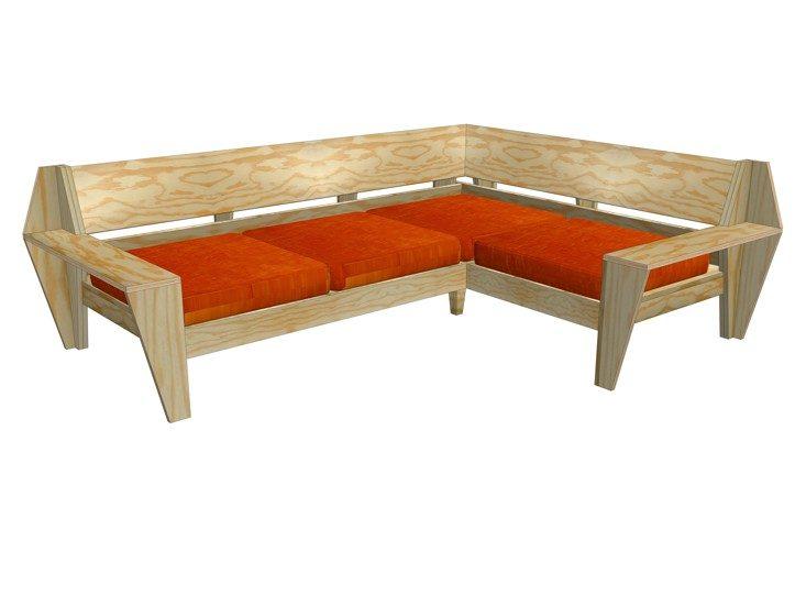 Lounge hoekbank maken: loungeset Yelmo