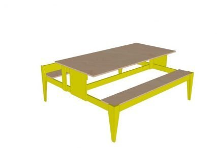 picknicktafel Urbion zelf bouwen