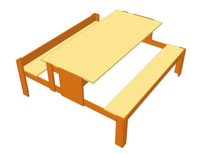 picknicktafel zelf bouwen
