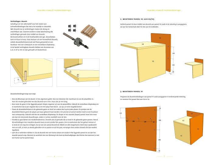 Werktekening Bijzettafel | nachtkastje Pilar zelf maken