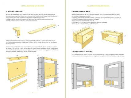 Modern zelfbouw tv-meubel Antonio