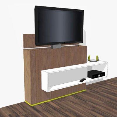 Zelfbouwt v-meubel Astor