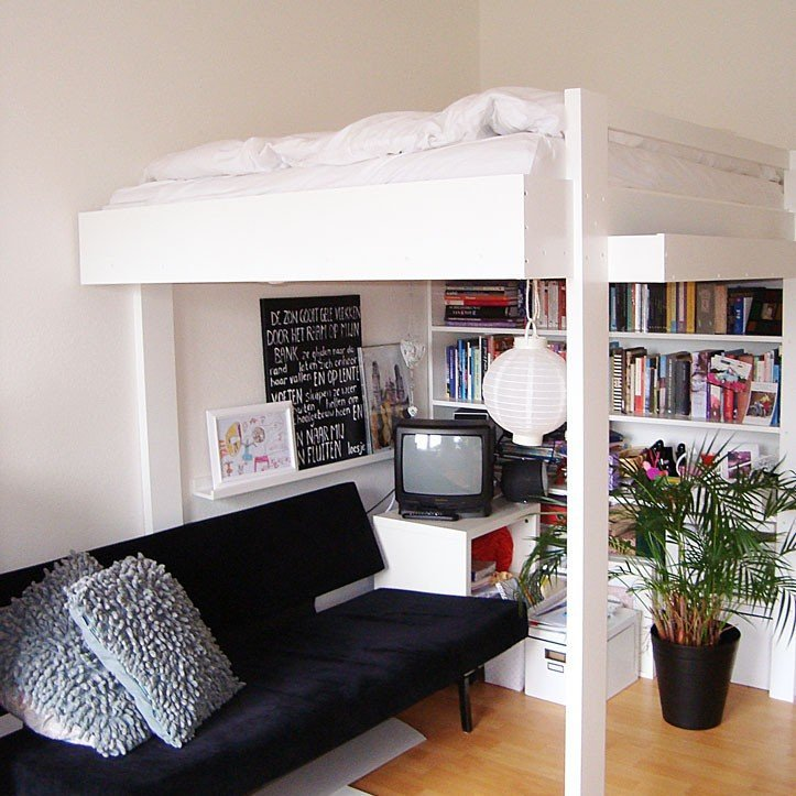 Hoogslaper maken maak zelf je hoogslaper of stapelbed - Stapelbed kleine kamer ...