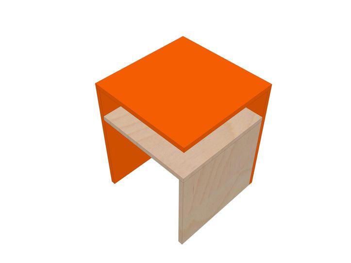 Bouwtekening Bijzettafel | nachtkastje Pilar zelf maken