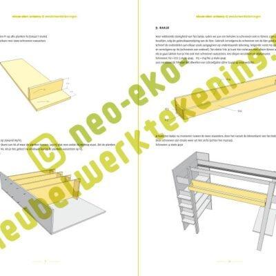 Top Bouwtekening hoogslaper, design hoogslaper zelf maken HM05
