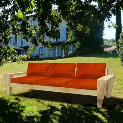 Loungebank maken, Yelmo zelfbouw tuinbank