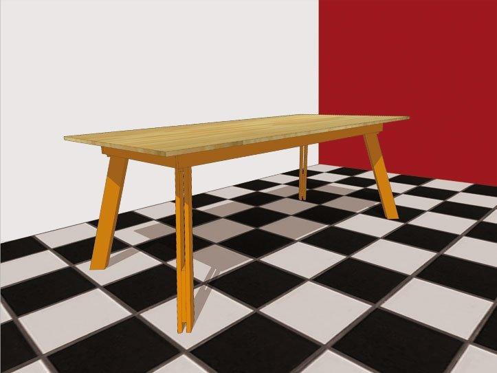 Tafel zelf maken maak je eigen tafel met deze bouwtekeningen for Bouwtekening tafel