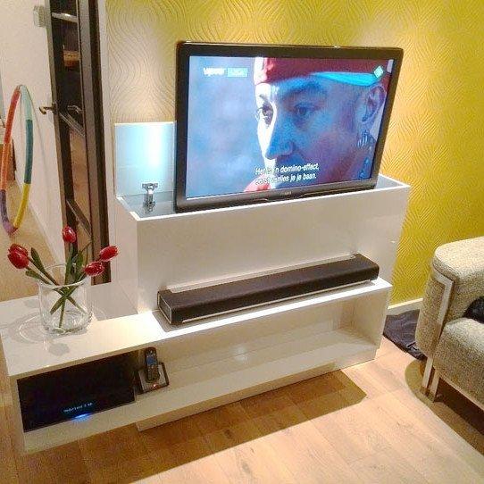 Tv meubel met lift zelf maken in hout of mdf for Zelf meubels maken van hout
