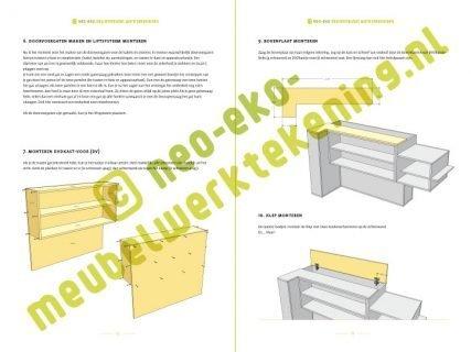 Voorbeeld werktekening Bouwtekening tv-meubel met lift