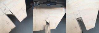 Sparing tbv 18 mm halfhoutverbinding maken