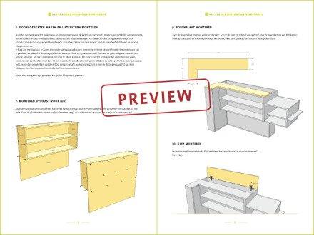 preview meubelwerktekening tv meubel Javier