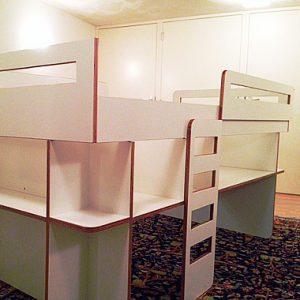 half hoogslaper zelf bouwen met meubelwerktekening door Pieter