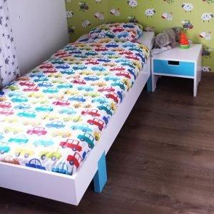 eenpersoonsbed bed met bijpassend nachtkastje zelf maken met bouwtekening
