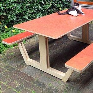 picknicktafel ordesa zelf maken door Rob met meubelwerktekening