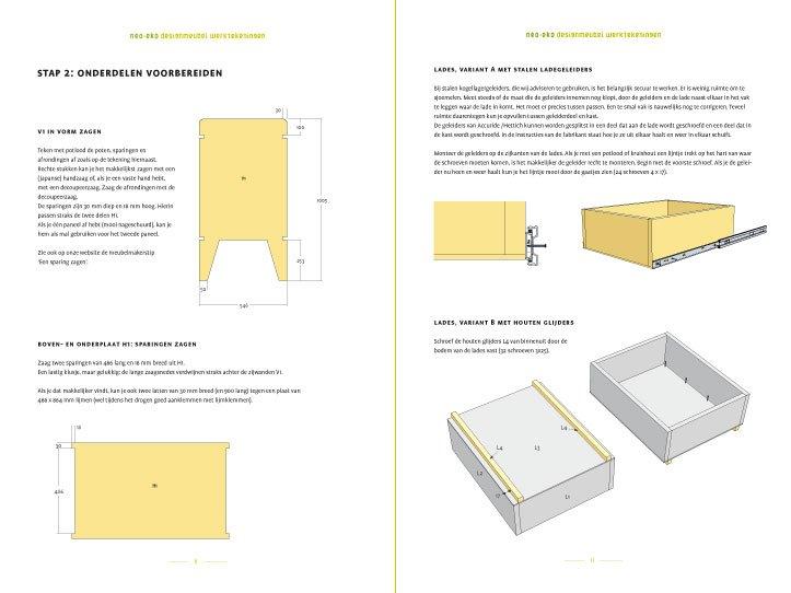 preview meubelwerktekening kinderkamer commode nicole