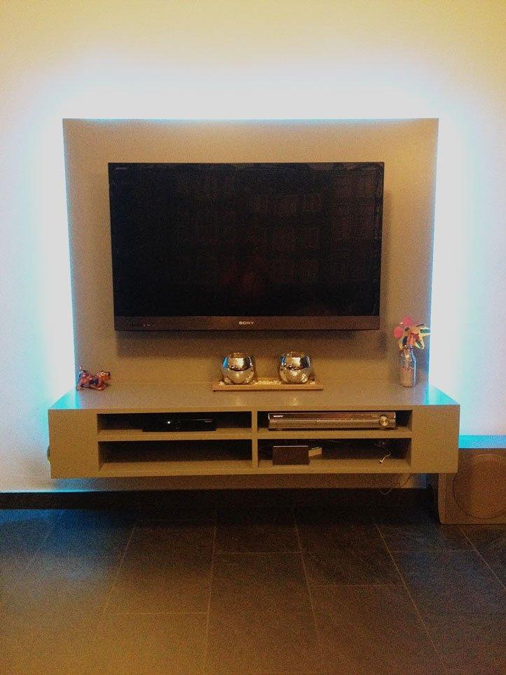 Tv Meubel Ophangen.Floating Tv Cabinet Penelope Built By Joey
