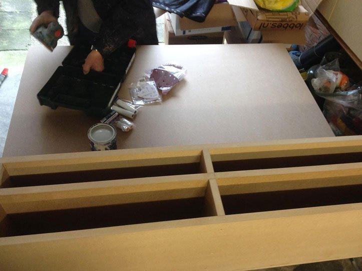 Zwevend zelfbouw TV-meubel Penelope door Joey