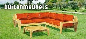 Loungebanken en buitenmeubels zelf maken