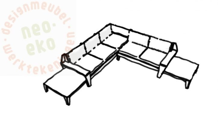 DIY Lounge sofa YelmoXL, Sketch, Design Neo-Eko-01-03