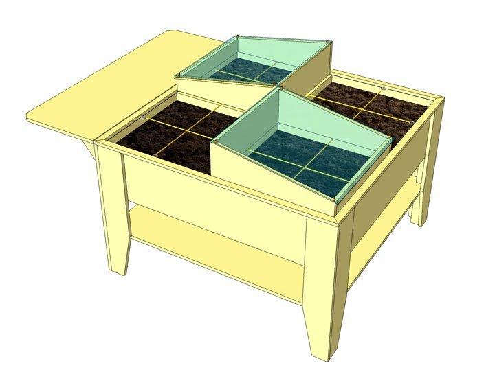 moestuinbak zelf maken met bouwtekening