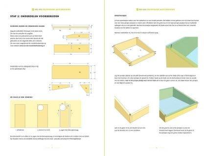 preview van de werktekening van moestuin bak tafel huerta