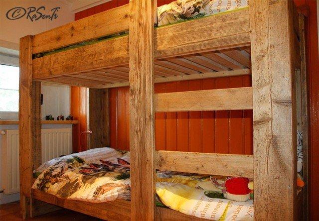 Stapelbed Mila van steigerhout
