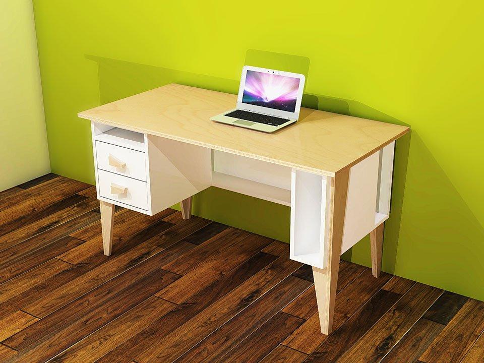 zelf maken buro leon met werktekening en handleiding. Black Bedroom Furniture Sets. Home Design Ideas
