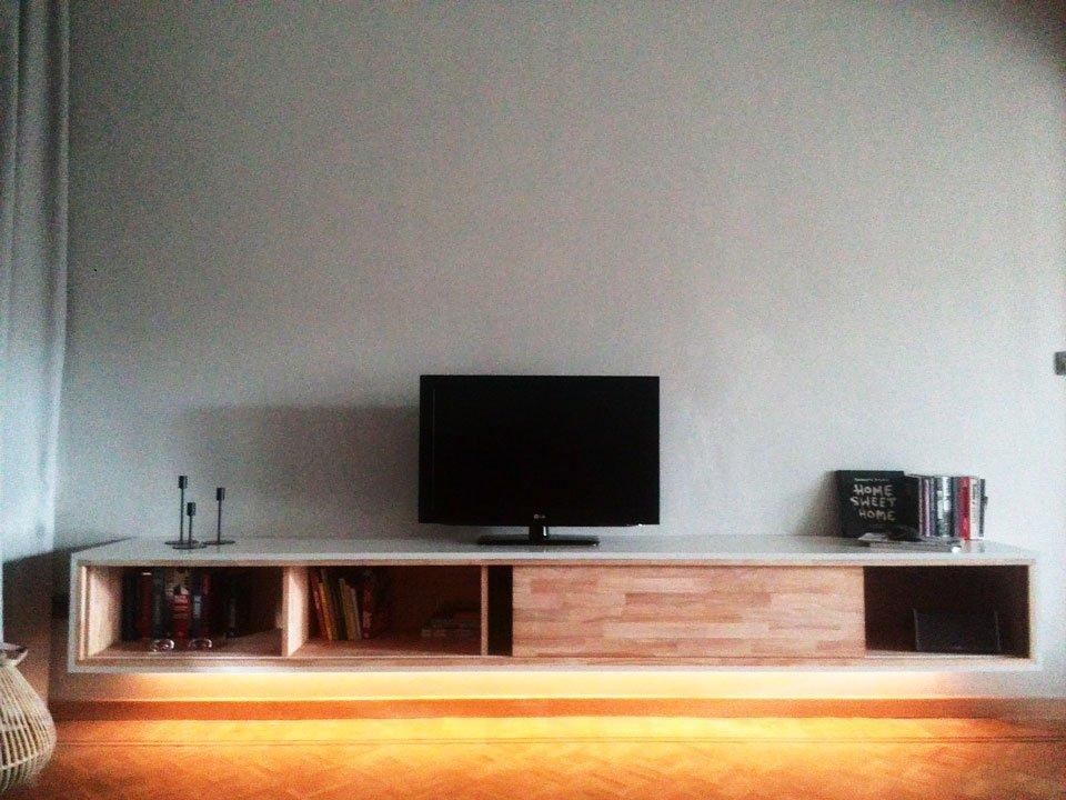 tv meubel. Zelfbouw-tv-meubel-ArturoXL-door Wessel Tv Meubel
