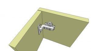 uitleg keukenscharnier inliggend 3D