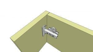 uitleg keukenscharnier opliggend 3D