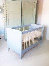Ledikant kinderbedje zelf gemaakt door Rutger met bouwplan Nicole